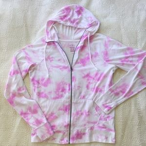 EUC SO Perfect Zip-Up Hoodie L Girly Pink